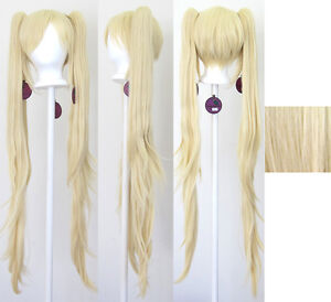 40-039-039-Wavy-Pig-Tails-Base-Flaxen-Blonde-Cosplay-Wig-NEW