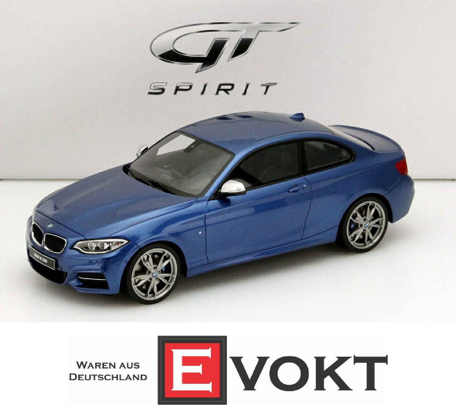 BMW M235i blu metallic 1:18 GT-SPIRIT