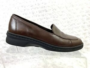Größe On 5m Clarks Loafer 7 Leather Damen Springers Brown Slip 0qzXA