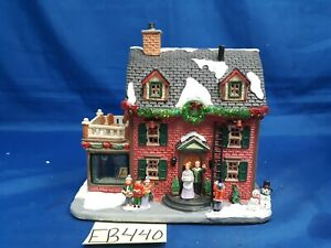 Lemax Village Collection Decorating The New England Hearth #45726 As Is EB440