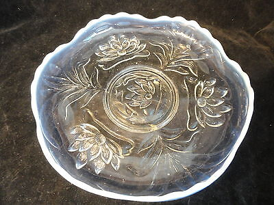 Opalescent  Fenton Glass Water Lilies Cat Tails Under-Plate Circa 1908-1912