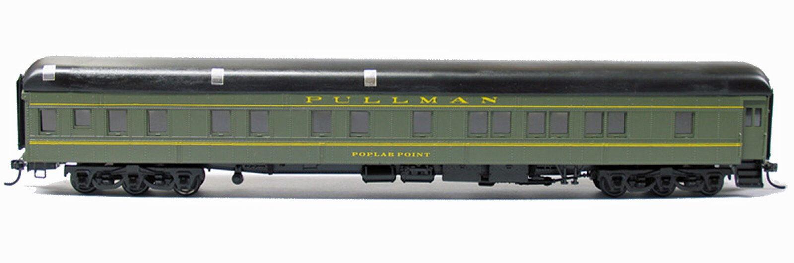 PULLMAN POPLAR 6-6 SLEEPER HO Railroad Plastic w/ Brass Car Sides KIT BC4060