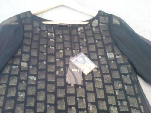 Paillettes Black Size Bnwt Dress Gold Reiss 6 xdYIwqHIr4