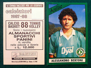 NUOVA//NEW N.29 BERTONI AVELLINO FIGURINA  CALCIATORI PANINI 1987//88
