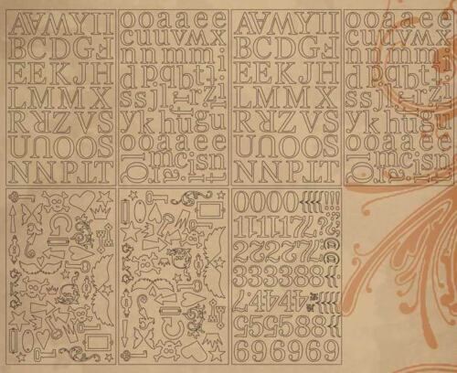 Tim Holtz ALPHABETS /& embellissements grungeboard papier épais scrapbooking mini