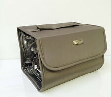 MAKEUP COSMETIC SHOWER TRAVEL CASE BAG 4 BIG SECTIONS WITH ZIPPERS