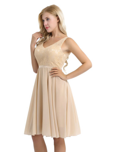 Women Lace Prom Formal Evening Cocktail Party Bridesmaid Short Dress Prom Gown