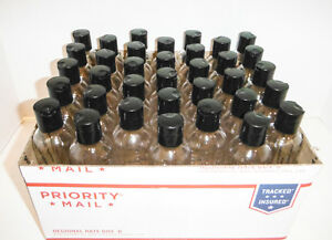 8oz Bottle Bullet 48ct Free Shipping. Clear Plastic PET Bottles Dispensing Cap.