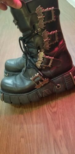 New Rock custom boots 9.5 (42) Goth Gothic Punk Us