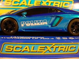 MM-Scalextric-Lamborghini-POLIZIA-Aventador-MM-C3264-MB-Car-76-of-100
