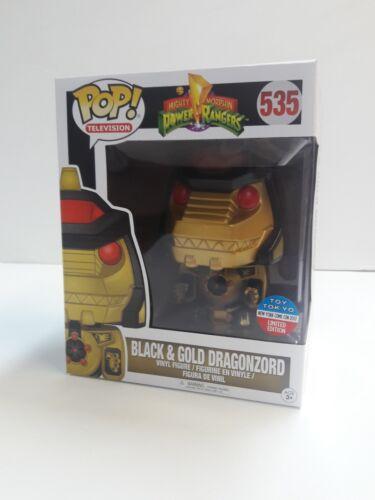 Funko POP 535 Mighty Morphin Power Ranger Black Gold dragonzord Toy Tokyo