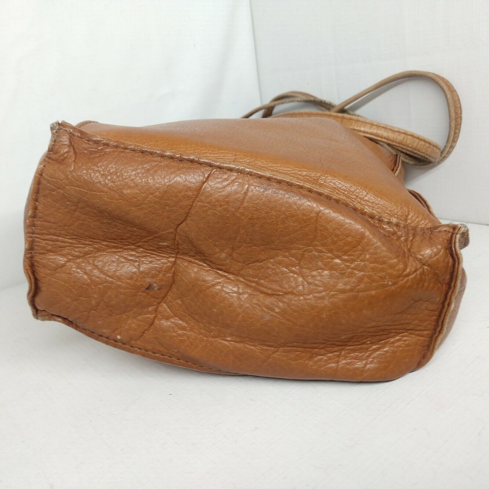 Unbranded Women's Tan Genuine Leather Square Boho… - image 3
