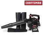 Craftsman 27cc Gas Blower with Vac Kit Handheld Leaf Yard NEW Free Shipping