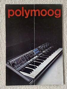 Moog Synthesizer Polymoog Original Catalog Brochure. RARE