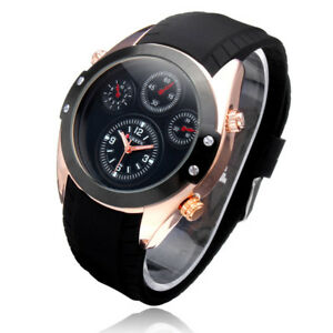 Curren-8141-Men-039-s-Black-Silicon-Strap-Quartz-Watch