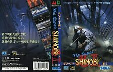 Super Shinobi 2 II MD Mega Drive JP NTSC-J Replacement Box Art Case Insert Cover