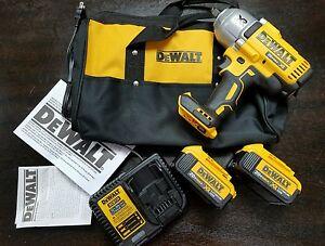 "DeWALT DCF899HM2 20V MAX Cordless Li-Ion 1/2"" Impact Wrench 4.0 Battery Kit NEW"