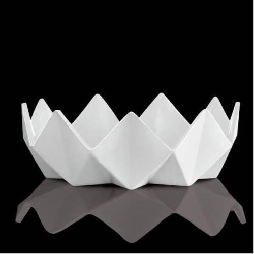 25cm H Kaiser Porzellanschale Polygono Star D 8,5cm weiß biskuit matt Goebel