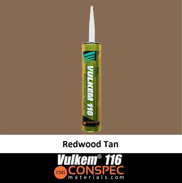 Vulkem 116 Redwood Tan Polyurethane Sealant - 10 1 Oz Cartridge Caulk Tremco