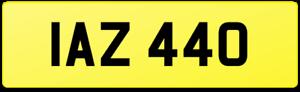 DATELESS AGE COVER 3+3 NUMBER PLATE IAZ 440 / IAN IA GRAN COUPE BMW 440i M SPORT