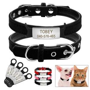 Soft-Cat-Collar-and-Tag-Set-Kitten-Dog-Collars-Personalized-ID-Tag-XXS-XS-S-M-L