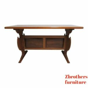 Image Is Loading Vintage Solid Teak Mid Century High Top Dining
