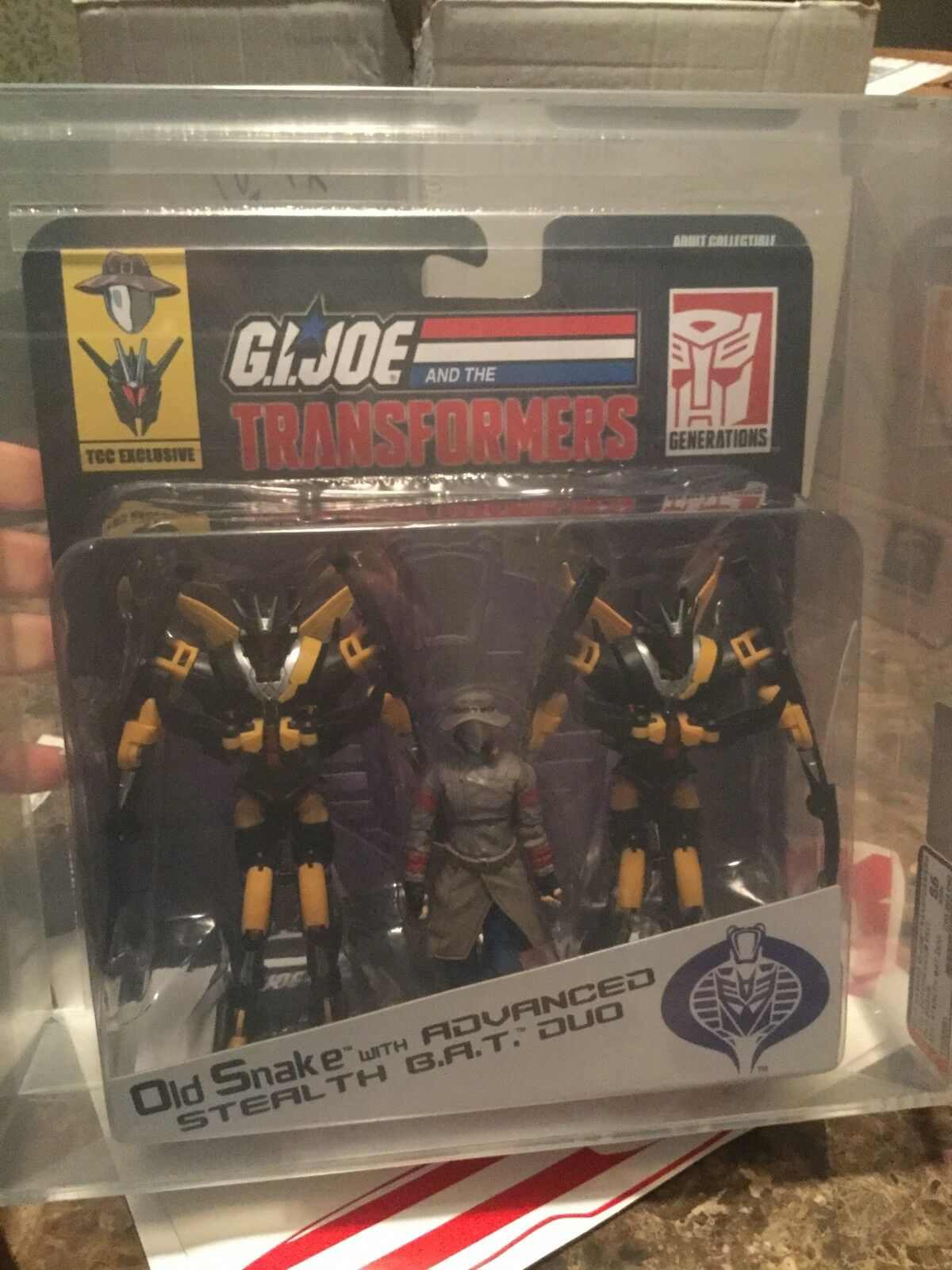 2015 Gi Joe Transformers COLLECTORS CLUB EX vieux Serpent Stealth B.A.T. Duo Action Figure Authority 85