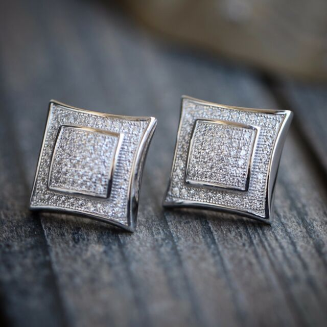 earrings en cut birthstone with shaped newborn square diamonds brilliant