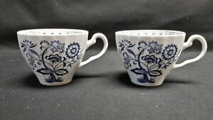 Johnson-Brothers-England-Blue-Nordic-Pair-of-Flat-Cups-No-Saucers