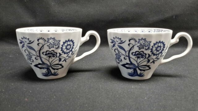 Johnson Brothers England Blue Nordic - Pair of Flat Cups (No Saucers)