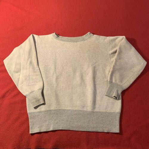 Vintage Champion Sweatshirt 50s Oatmeal Two Tone M