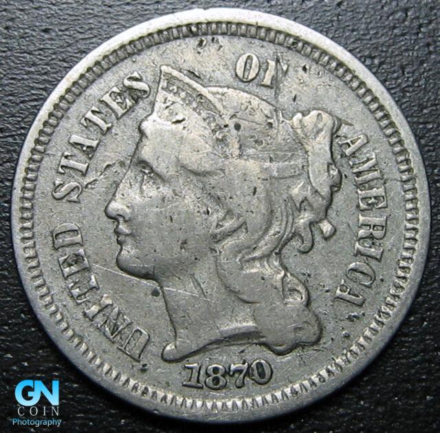 1870 3 Cent Nickel Piece  --  MAKE US AN OFFER!  #R8802