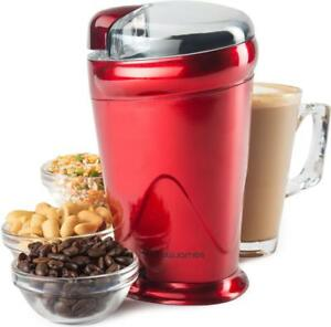 Andrew-James-Electric-Coffee-Grinder-Bean-Nut-amp-Spice-Mill-150w-Red