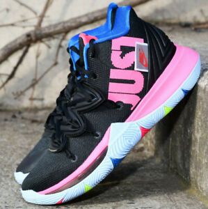 Details about Nike Kyrie 5 Just Do It JDI AO2918 003 Black Volt Hyper Pink Basketball Shoes