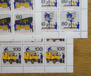 25-x-Berlin-876-878-postfrisch-kompletter-Bogen-Satz-Formnummer-ungefaltet-MNH