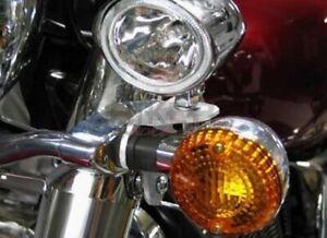 Supporti per fari supplementari moto Kawasaki VN900 Vulcan Classic e Custom