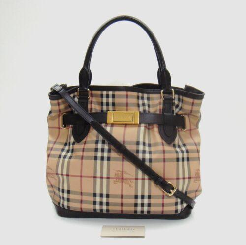 e4978bf7fa8d  1495 Burberry Haymarket Check Medium Golderton Tote Bag