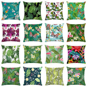 FJ-Plant-Flower-Flamingo-Butterfly-Pillow-Case-Sofa-Bed-Cushion-Cover-Home-Myst