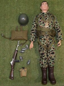 Original Vintage Action Man Loose - Soldat Combat Paratrooper 190