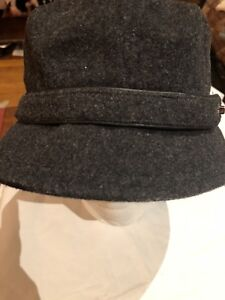 204a626564e Image is loading Coach-Vintage-Deco-Style-Gray-Wool-Fedora-Hat