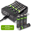 Rechargeable-High-Capacity-AAA-AA-Batteries-and-Charging-Dock-Venom-Power miniatuur 17
