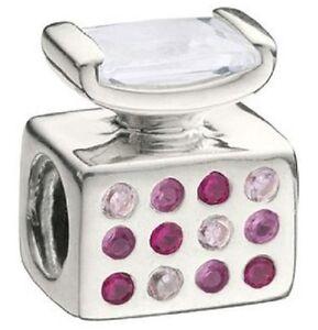 100% Wahr Authentic Chamilia Element Charm Sterling 925 Silber Perfume Bottle Pink Cz Jc-8 SchöN Und Charmant