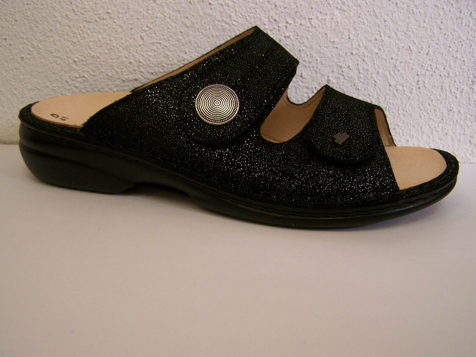 Finn Comfort Zanzibar Luz silver Footbed Interchangeable  incl. Cotton shoes