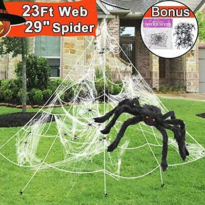 23 Feet Halloween Decorations Outdoor Giant Spider Web ...