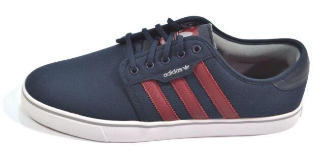 Adidas Seeley Dark Navy / ROJO Canvas zapatos hombre  tamaño eBay