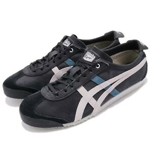 Asics-Onitsuka-Tiger-Mexico-66-Black-Grey-Men-Vintage-Running-Shoes-D832L-9096