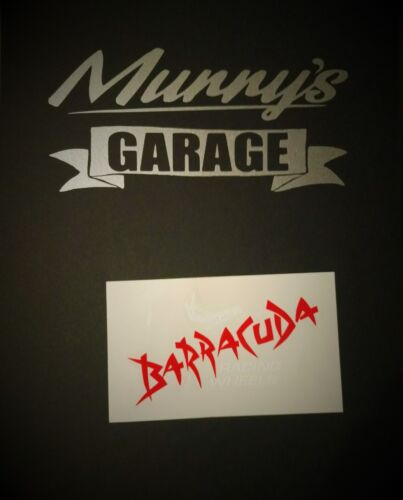 sticker stickers Original Barracuda Racing Wheels-Alloy wheels decal 65x105mm
