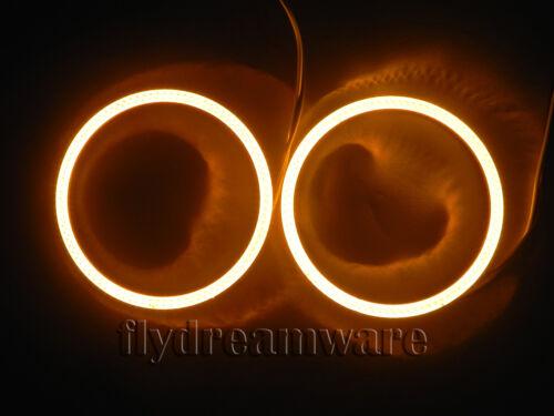 COB 2X Angel Eyes Amber 110mm BMW Style 126led Bright Halo Ring Light DC12V G075