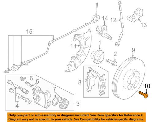 VW VOLKSWAGEN OEM 10-18 Jetta Brake-Front-Rotor Screw N10648301