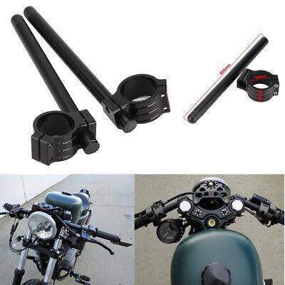 """50mm Clip-On HandleBars 7//8/"""" Racing For Yamaha 2006 2007 YZF-R6S"""